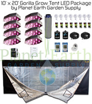 10' x 20' Gorilla Grow Tent Kit LED and Hydroponic Package (GGT1020LEDHYDRO) UPC:4646003860287