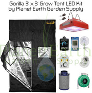 3' x 3' Gorilla Grow Tent Kit with LED and Hydroponic System (GGT33LEDHYDRO) UPC 4646003861314