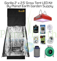 2' x 2.5' Gorilla Grow Tent Kit with LED and Hydroponic System (GGT22LEDHYDRO) UPC 4646003861345