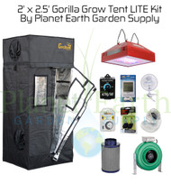 2' x 2.5' Custom Gorilla Grow Tent Kit LITE with LED and Hydroponic System (GGTLT22LEDHYDRO) UPC 4646003861352