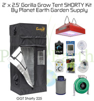 2' x 2.5' Custom Gorilla Grow Tent SHORTY Kit with LED and Hydroponic System (GGTSH22LEDHYDRO) UPC 4646003861369