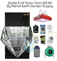 2' x 4' Custom Gorilla SHORTY Grow Tent Kit with LED and Hydroponic System (GGTSH24LEDHYDRO) UPC 4646003861383