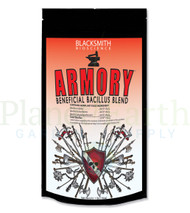 Blacksmith Bioscience Armory (BSA0) 16 oz. bag front view, with front labels showing