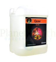 Cutting Edge Solutions Grow (CES220) 2.5 gallon liquid nutrient container front view, front label displayed