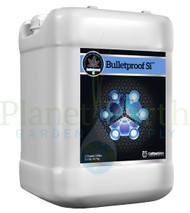 Cutting Edge Solutions Bulletproof Si (CES3340) 2.5 gallon liquid nutrient container front view, front label displayed