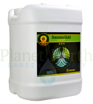 Cutting Edge Solutions Sonoma Gold - Bloom (CES3323) 2.5 gallon liquid nutrient container front view, front label displayed