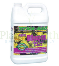 Dyna-Gro Bloom (DYBLM100) 1 gallon liquid nutrient container front view, front label displayed