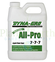 Dyna-Gro All-Pro 15 gallon liquid nutrient container front view, front label displayed