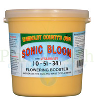 Emerald Triangle Sonic Bloom (ETSB50) 5 pound bucket front view, front label displayed
