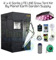 4' x 4' Custom Gorilla LITE Grow Tent Kit (GGTLT44LEDHYDRO)