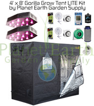 4' x 8' Gorilla LITE Grow Tent Kit Package (GGTLT48KIT)
