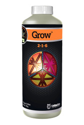 Grow (1 quart) adds more nitrogen for plant growth.  Potassium to improve the plant's photosynthetic rate and energy transfer throughout the plant.