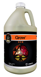 Grow (1 gallon) adds more nitrogen for plant growth.  Potassium to improve the plant's photosynthetic rate and energy transfer throughout the plant.