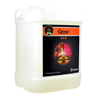 Grow (2.5 gallons) adds more nitrogen for plant growth.  Potassium to improve the plant's photosynthetic rate and energy transfer throughout the plant.