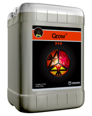 Grow (6 gallons) adds more nitrogen for plant growth.  Potassium to improve the plant's photosynthetic rate and energy transfer throughout the plant.