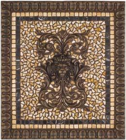 Metal Mural Grand Regency Mosaic Tile Backsplash