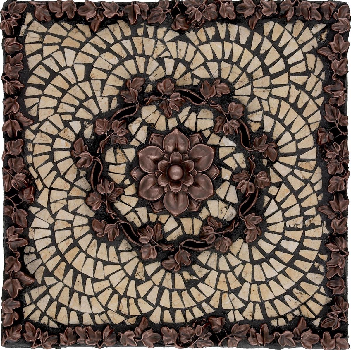 Metal Mural Athena Mosaic Tile Backsplash