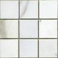 White statuary marble mosaic honed 2x2