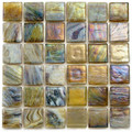 Hakatai Calliope Truffle 0.625 x 0.625 Glass Mosaic Tile
