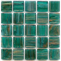 Hakatai aventurine Blue emerald 1x1 glass tile