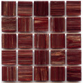 Hakatai aventurine Bordeaux 1x1 glass tile