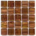 Hakatai aventurine Madrone 1x1 glass tile