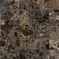 Dark emperador mosaic polished 2x2