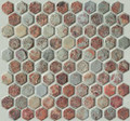 Multi color Hexagone slate mosaic