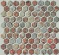 Multi color Hexagone slate mosaic
