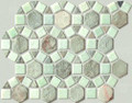 Spanish Moss pin wheel slate mosaic
