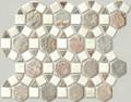 Desert sage Pin wheel slate mosaic