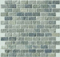 Green slate brick pattern mosaic