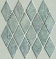 Green slate Harlequin mosaic