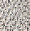Tilecrest Eclipse Series Glass Stone Blend Mosaics Espresso