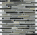 DaVinci glass tile handicraft II Linear series Black Sea