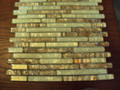 Equinox glass tile White  Coffee blend linear