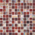 Puccini glass tile Watercolor Mahogany