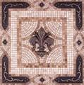 Fleur de Lys Vienna Mosaic Tile Backsplash Medallion