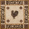 Rooster Mosaic Tile Backsplash Medallion 24 inches