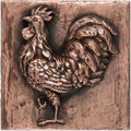 Rooster Accent Tile 7.5 x 7.5 left