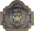 Lion Head Fountain On Plaque