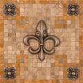 Contempo Fleur Mosaic Medallion 12 inches