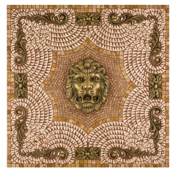 Metal Mural Imperial Mosaic Tile Backsplash 24 Inches By