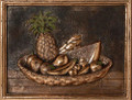Tropical Fruits metal backsplash mural