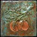 Metal decorative tile 6x6 Peach