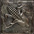 Metal decorative tile 6x6 Corn