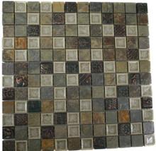 Soho Studio Art Glass Urban Slate 1x1 Square Glass Mosaic