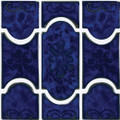 Aquatica pool tile Botanic Lake Blue 6x6