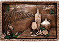 Vineyard View metal backsplash mural