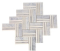 Zippori Herringbone Carrara and Thassos Line